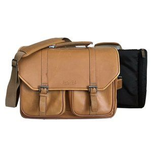Kenneth Cole Reaction Leather Briefcase Bag Laptop